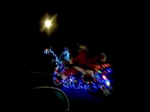 Santa Claus on a motorcycle - HO-HO-HO Merry Christmas!