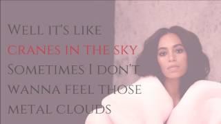 SOLANGE - CRANES IN THE SKY (LYRICS)