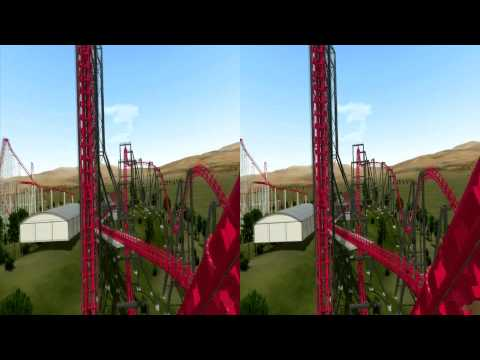 3D Rollercoaster: 4D Coaster (3D for PC/3D phones/3D TVs/Crossed Eyes)