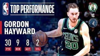 Gordon Hayward's Huge Night Leads Boston To Win Over Minnesota | December 1, 2018