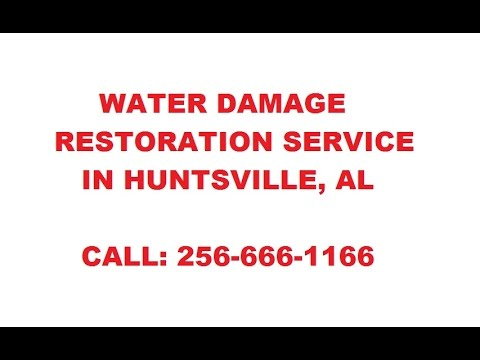 Water Damage Restoration in Huntsville AL