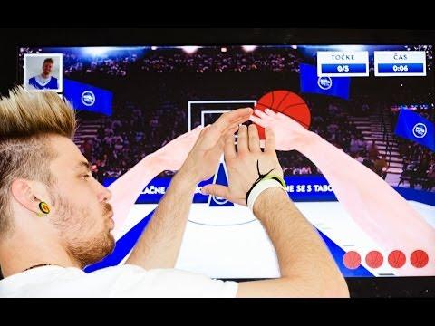 Gesture interactive basket game
