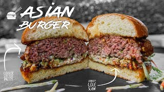 Perfectly Cooked Asian Burger   SAM THE COOKING GUY 4K