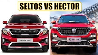 KIA SELTOS VS MG HECTOR - OFFICIAL COMPARISON | SELTOS VS HECTOR FULL COMPARISON