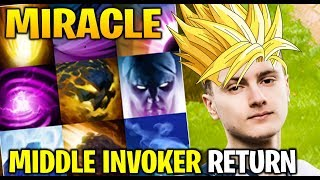 MIRACLE INVOKER in middle lane - road to top 1 Dota 2 7.21d