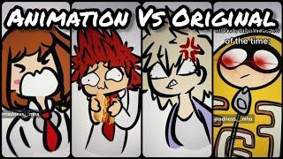 Animation Vs Original | TikTok Compilation from @madness._.mha