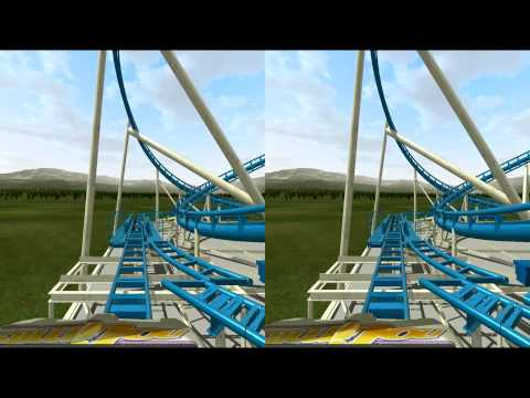 3D Rollercoaster: The Loop (3D for PC/3D phones/3D TVs/Crossed Eyes)