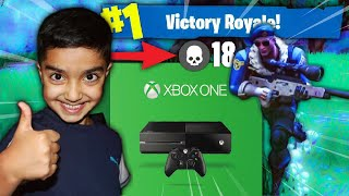 I told my 5 year old little brother if he gets a victory in Fortnite I will buy him a XBOX ONE!