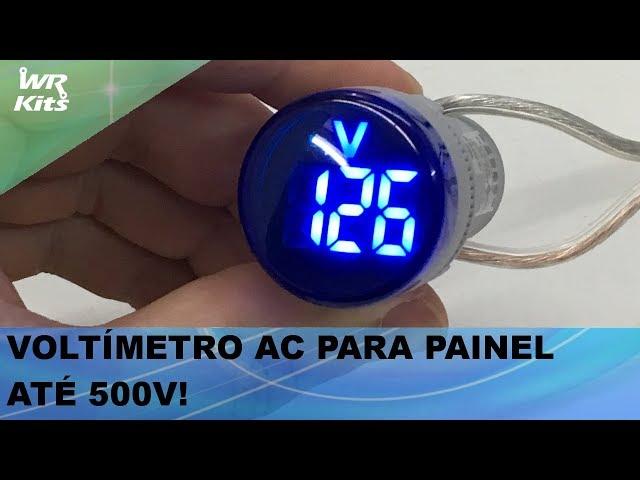 VOLTÍMETRO AC PARA PAINEL ATÉ 500V (UTILIZAÇÃO FÁCIL)!