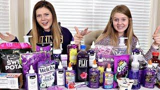 Purple Slime vs Purple Food Switch Up Challenge | Sis vs Sis