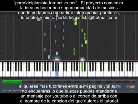 OBSECION AVENTURA piano tutorial synthesia MIDI+PARTITURA