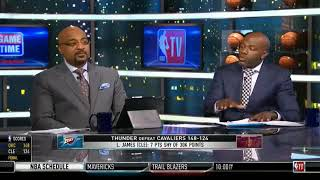NBA Gametime | Thunder Defeat Cavaliers 148 -124 | Lebron James On Ty Lue Should Be Blamed & Fired