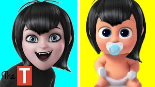 Hotel Transylvania 3 Characters Reimagined as Babies