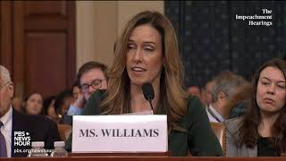 WATCH: Jennifer Williams' full opening statement | Trump impeachment hearings