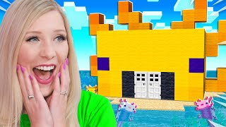 I Found a Secret KING AXOLOTL Base in Minecraft!