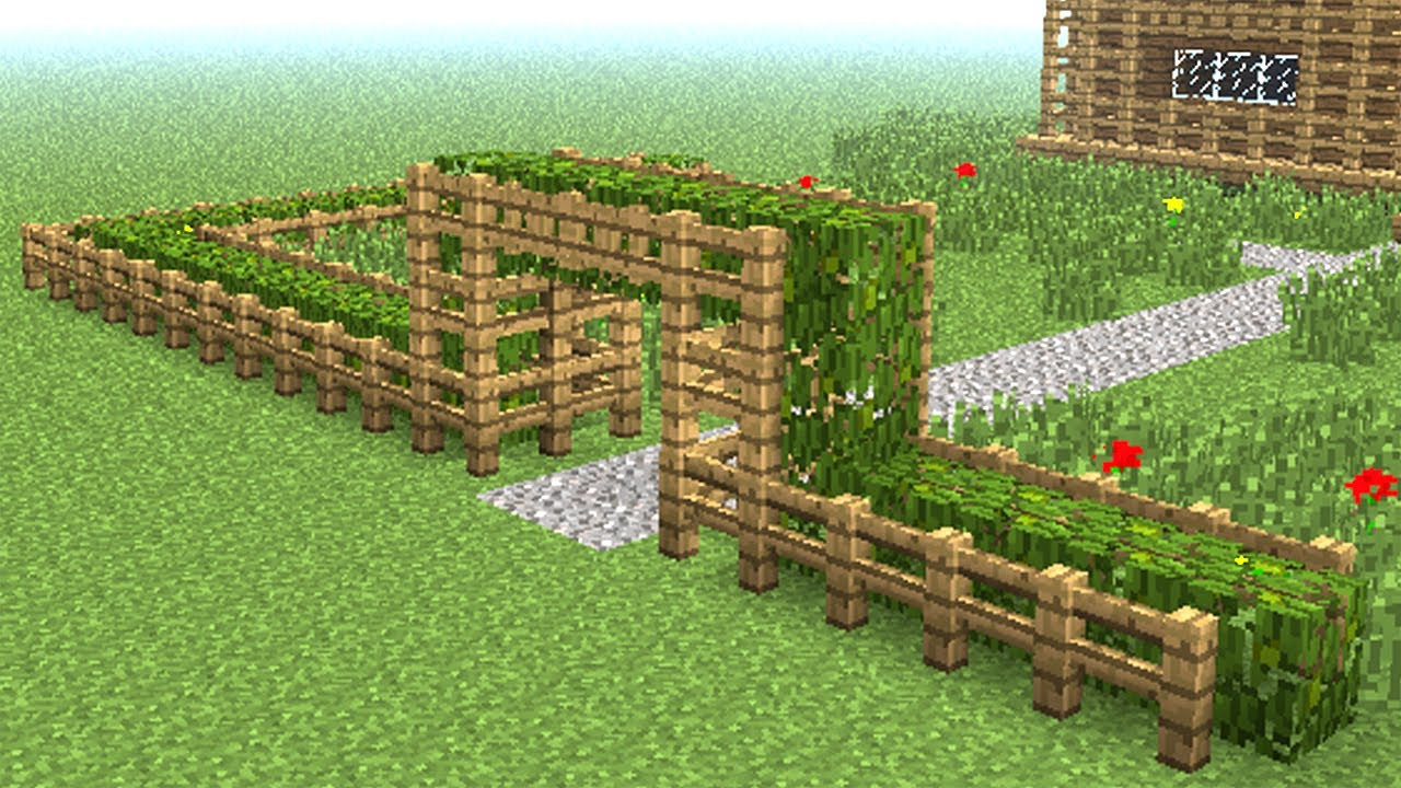 Minecraft How To Build Little Wooden Fence Youtube