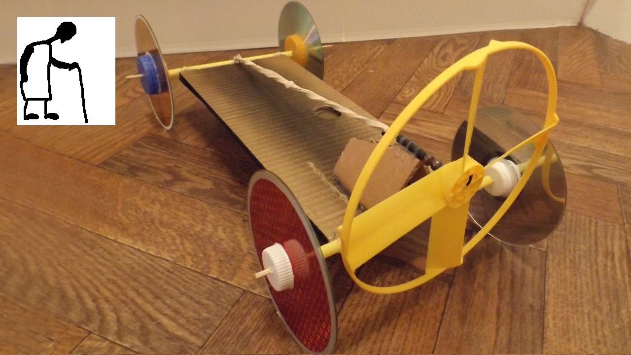 Rubber Band Powered Fan Driven Car Youtube