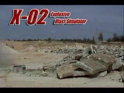 X-O2, Explosive Blast Simulator - Explotrain.com
