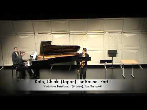 Kato, Chiaki (Plays: VARIATIONS PATETIQUES de Ida Gotkovski