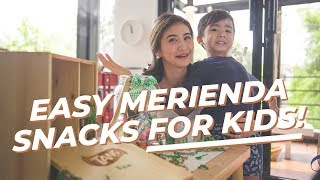Easy to prepare merienda snacks for kids!