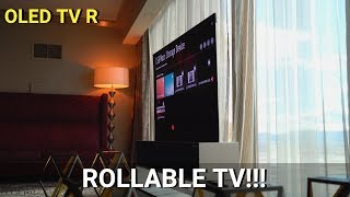 LG OLED TV R: The First Rollable TV!!!