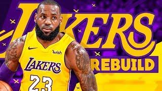 LEBRON JAMES LOS ANGELES LAKERS REBUILD! NBA 2K18