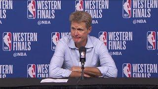 Steve Kerr Postgame Interview - Game 7   Warriors vs Rockets   2018 NBA West Finals