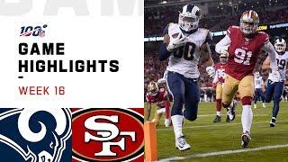 Rams vs. 49ers Week 16 Highlights   NFL 2019