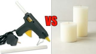 HOT GLUE VS CANDLE WAX ! STICK TEST OF WAX