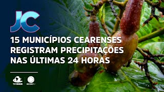15 municípios cearenses registram precipitações nas últimas 24 horas