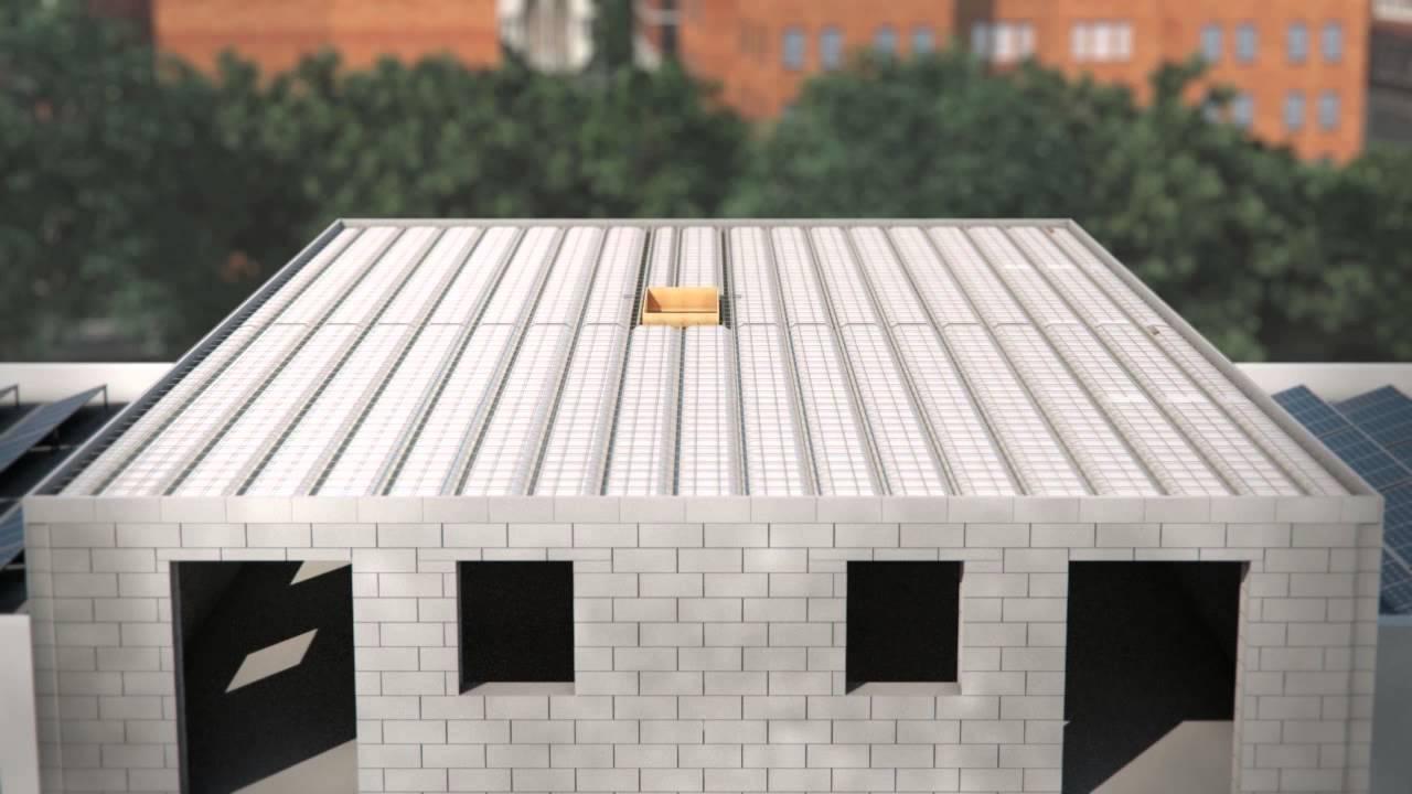 plancher toiture terrasse youtube. Black Bedroom Furniture Sets. Home Design Ideas