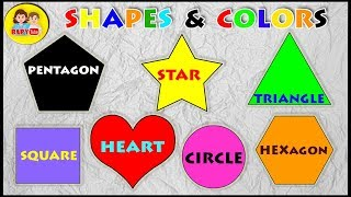 Learn about Shapes and Colors - Fun Activity for Children