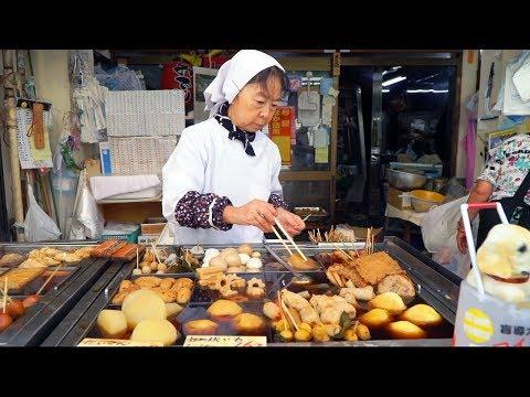 JAPANESE STREET FOOD - Tokyo Street Food Tour   AUTHENTIC Street Food in Japan + BEST Oden in TOKYO