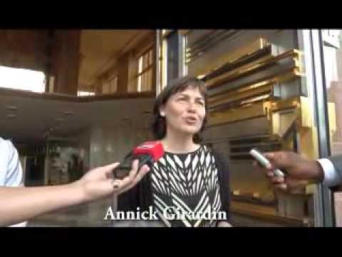 Mme Annick Girardin reçue en audience, le 02 novembre 2015, au Palais de l'Unité par le Président Pa