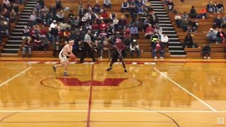 Reeths-Puffer PG Kaleb Mitchelson does Cassius Winston impersonation in district win over Mona Sh...
