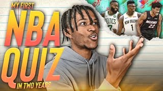 I Took My First NBA Quiz In 2 Years