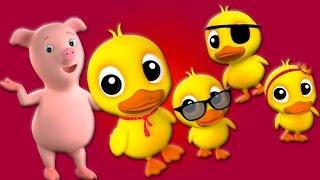 пять маленьких уток | дети рифмы | детские стишки | Five Little Ducks Rhyme | Russian Kids Songs