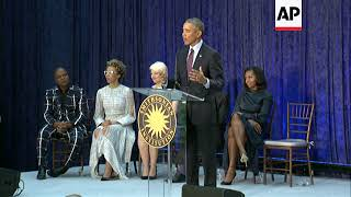 Obama Portraits Unveiled at Smithsonian Museum
