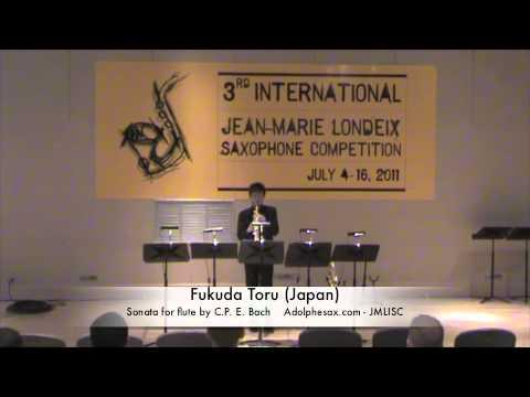3rd JMLISC: Fukuda Toru (Japan) Sonata for flute by C.P.E. Bach