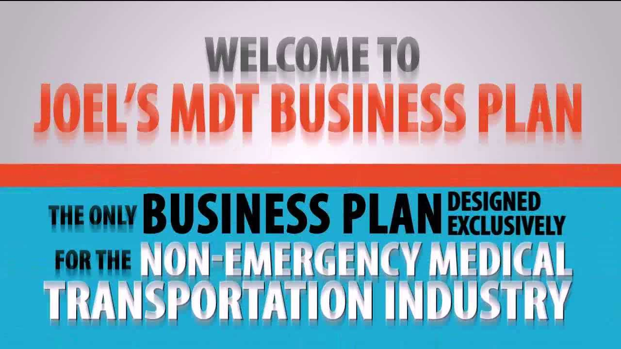 Example of a Medical Transportation Business Plan