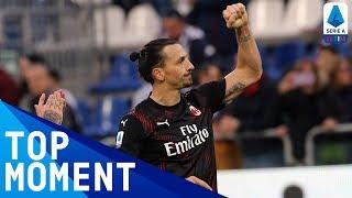 Zlatan's First Goal on his Return to Milan! | Cagliari 0-2 Milan | Serie A TIM