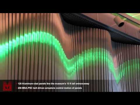 Museum of Mathematics Entrance | 256 Belt Driven Actuators & Independent Axes