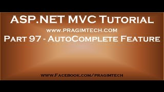 Part 97   Implement autocomplete textbox functionality in mvc