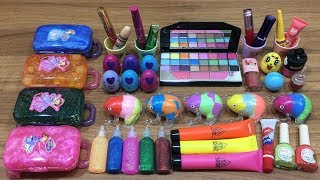 Mixing Makeup and Clay into Store Bought Slime !!! Relaxing Satisfying Slime Videos