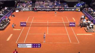 Lucie Safarova (CZE) vs Maria Sharapova (RUS) - 22 April 2014 - Porsche Tennis Grand Prix 2014