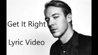 Diplo - Get It Right (Feat. MØ) Lyrics Video