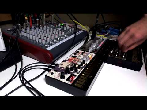 KORG volca beats/bass/keys : dub techno