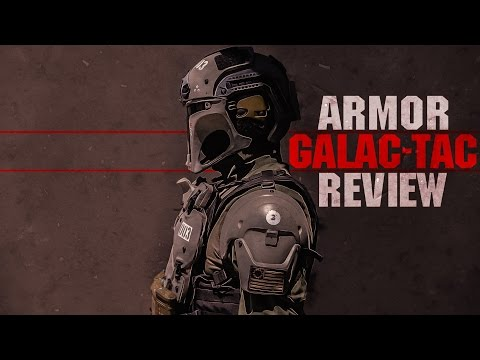 "GALAC-TAC Armor Review + CUSTOM ""Star Wars Themed"" LVOA Airsoft Rifle! 