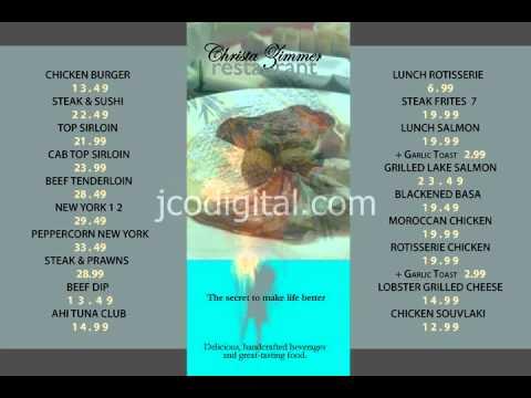 Restaurant menu board, #2