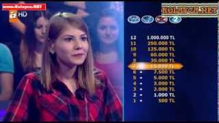 Kim Milyoner Olmak İster Sema Tekin 23.10.2013 276. bölüm